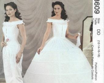 UNCUT Mccalls 3609 Civil War Undergarments Costume Pattern Misses' Sizes 14-18