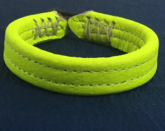 High-Vis Yellow Pigskin Luggage Bracelet
