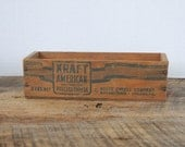 Vintage Kraft American Cheese 2 lb Wood Box Kraft Cheese Company Chicago Illinois