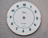 Vintage Soviet cardboard alarm clock dial, face.