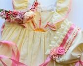 M2M Risen Son Dress - Baby Bonnet - Newborn Photo Prop - Vintage Inspired Prop - Baby Hat - Newborn Bonnet