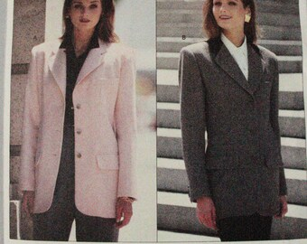 Vogue 1019 Anne Klein fitted jacket 90s free shipping US 8 10 12