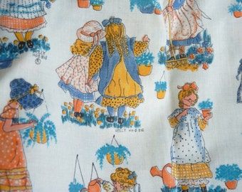 Vintage Fabric Cotton HOLLY HOBBIE  Curtain Dress Material American Greeting Company Manes Organisation
