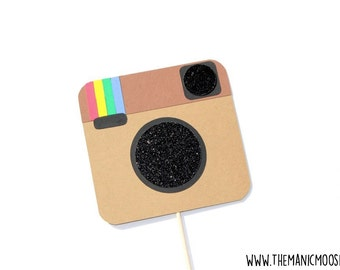 Photo Booth Props ~ Social Media Prop ~ GLITTER Photobooth Prop ~ Great for weddings, birthdays, parties