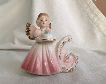Josef Originals figurine 6 birthday angel figurine 651639  fairy 6th sixth birthday original label Applause Inc