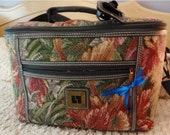 RESERVED >>>> Vintage Taperstry Luggage Tote by Leisure