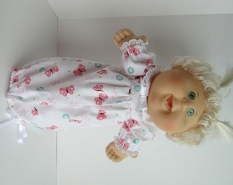 """14"""" Baby Cabbage Patch Butterfly Print Nightgown"""