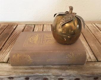 Mid Century Brass Apple Snuff Box