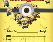 Despicable Me Minions Invitation - INSTANT DOWNLOAD - The Minions invite - Minions birthday party - Despicable Me Minions invitation