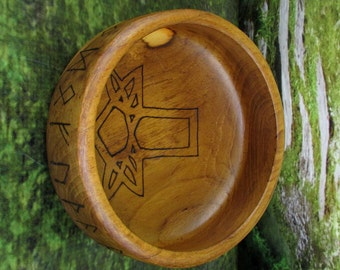 Norse Bowli, Blot Blessing Bowl, Mjolnir & Runes,Blot Bowl, Asatru Ritual Bowl, Asatru Blessing Bowl, Viking Blessing Bowl, Viking Bowli