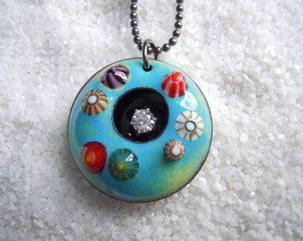 Colorful Barnacle Necklace Artisan Jewelry
