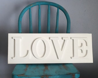 Love Sign, Dimensional Letter Sign, Sale!  free Shipping