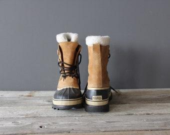 Men's Vintage Sorel Caribou Winter Snow Boots.  Size 10