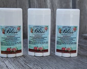 Bliss Soaps, Shampoos, & Lotions Deodorant. All natural!  We are about to steal your odor away.