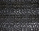 "Leather 12""x12"" Black BRAIDED Basket WEAVE Pattern Cowhide 3 2.5-3 oz / 1-1.2 mm PeggySueAlso™ Limited"
