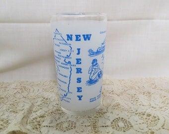 New Jersey Souvenir Tumbler Glass Vintage Kitchenware Kitchen Ware The Garden State