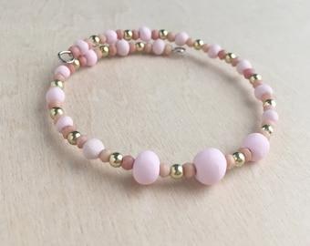 Pink Wire Wrap Bracelet