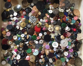 10 LBS. Bulk Lot of Buttons - 1930s to 1980s - 10 LBS. Vintage Buttons