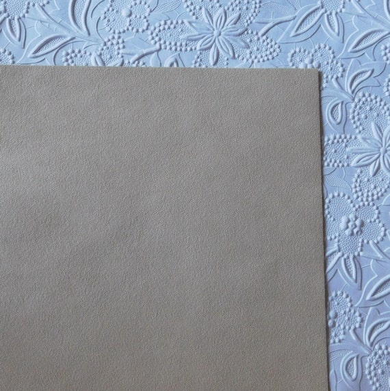 Sand beige ultrasuede fabric for bead embroidery