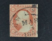 US STAMP #11 fine condition exciting cancelation with year