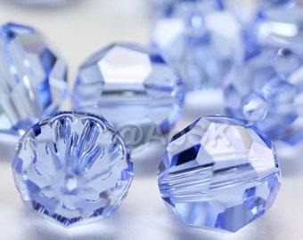 Promotion Item - 100 pcs Swarovski Elements 5000 5mm Crystal Round Beads - LIGHT SAPPHIRE (While Stocks Last)
