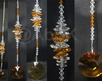 Swarovski Large 40mm Topaz Sundisk Crystal Pendant Cluster Suncatcher DS51