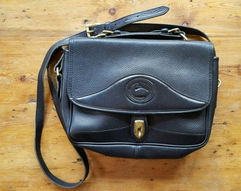 Vintage Leather Dooney & Bourke Crossbody Handbag, 1990s