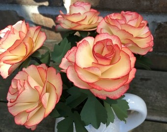 Hand made garden roses, perfect home decor florals