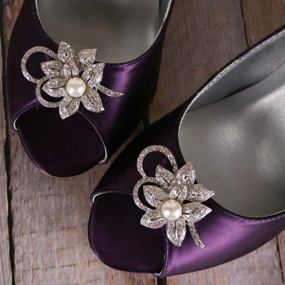 purple wedding shoes plum wedge wedding shoes flower wedding
