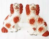 Antique Staffordshire Dogs - King Charles Staffordshire Dogs, Made in England