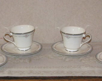 Royal Doulton Suzanne Cups and Saucers - Lot of 4 Sets