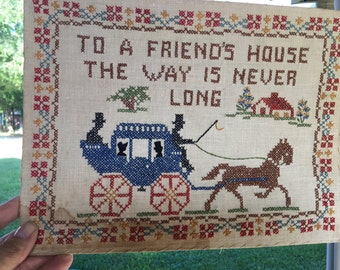 Friend's House crossstitch sampler