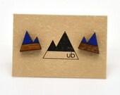 Twin Peaks- Colour Block Wood Studs