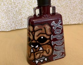 Kids Size Maroon Bulldog Hand Painted Cowbell