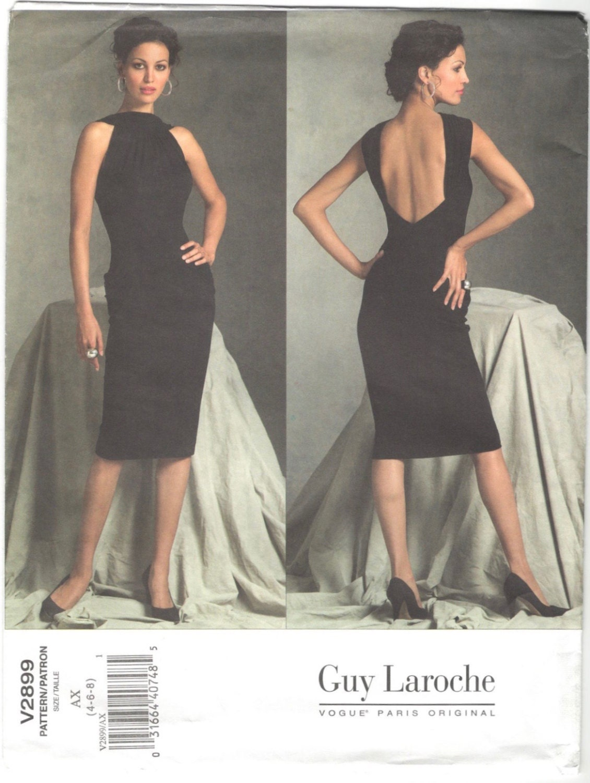 Vogue 2899 Guy Laroche cocktail dress pattern by Herve L. Leroux