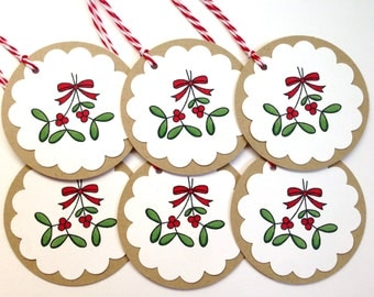 Christmas Gift Tags - Holly Gift Tags - Holiday Gift Tags - Xmas Tag Set - Christmas Wrapping - Unique Christmas Tags - Holiday Labels