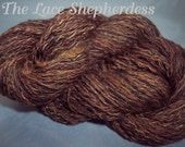 Handspun Silk yarn. 218 yards