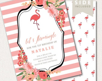 Flamingo Invitation, Flamingo Bridal Shower Party Invitation, Flamingo Bridal Shower Invite, Flamingo Theme//PRINTED or PRINTABLE INVITATION