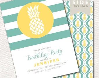 Pineapple Invitation / Birthday Party - Printable Invite