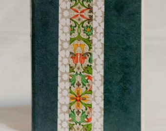 Florentine and Arabesque Printed Journal with Blue and White Accents