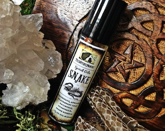 SNAKE SPIRIT OIL - Anointing Ritual Oil, Animal Totem Oil, Channeled Insect Medicine - Meditation, Witchcraft, Magick, Hoodoo