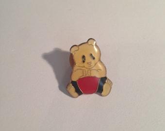 Vintage panda bear pin