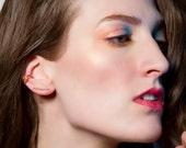 Skinny Mini Minimalist Ear Climbers, Thin Bar Earrings, Ear Crawlers, Gold, Rose Gold Filled, or Sterling Silver Ear Cuff, Gold Ear Crawler
