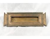 Solid bronze letter slot