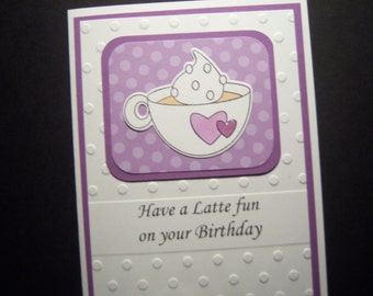Sweet Drink Birthday Card