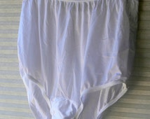 vanity fair white nylon panties size 5