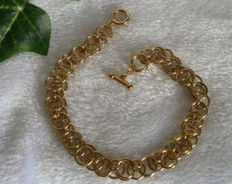 Gold Helm Chain Bracelet  B-096
