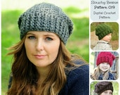 50% OFF SALE Crochet Hat Pattern, Crochet Pattern, Chunky Ribbed Slouchy Beanie Pattern 019, Slouchy Hat Pattern