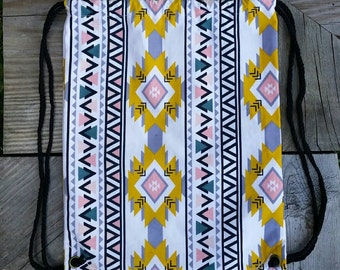 SALE! Aztec Corduroy Drawstring Backpack - Childrens Backpack - Ready to ship