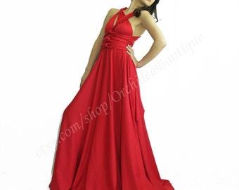 Bridesmaid Dresses  Weddings Convertible Infinity Wrap Chameleon Maxi  Red Women  Evening  Dresses Holiday Fashion plus size maternity